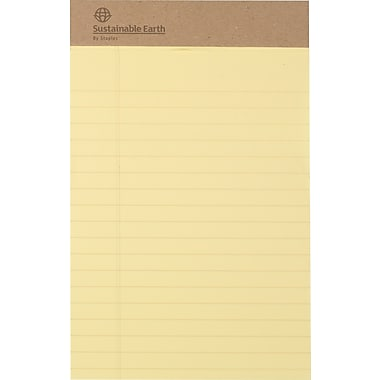 Sustainable Earth By Staples®, Perforated Notepads, Narrow Ruled, 5