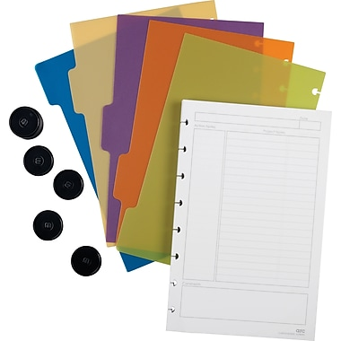 M by Staples™ Arc Customizable Notebook System Accessory Kit, Junior Size, 5-1/2in. x 8-1/2in.