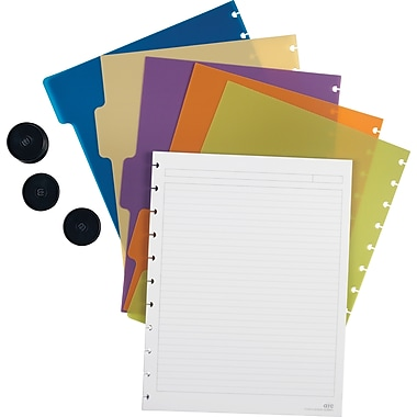 M by Staples™ Arc Customizable Notebook System Accessory Kit, Letter Size, 8-1/2in.x11in.
