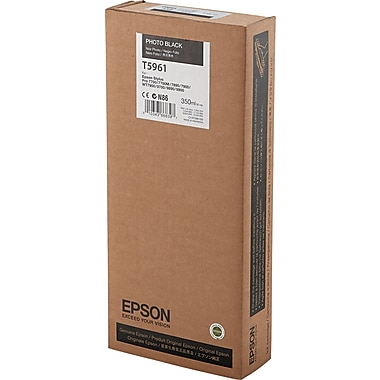 Epson T596 Photo Black UltraChrome HDR Ink Cartridge (T596100), 350ml