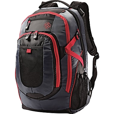 Samsonite Mini Senior Backpack, Grey/Red