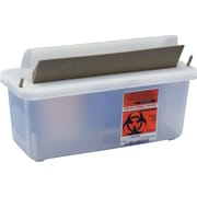 SharpSafety™ In-Room™ Biohazard Sharps Containers, 5 qt,  Clear, 20/Pack