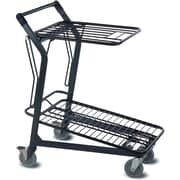 EZtote580 Tote Cart w/ Retractable Flat Wire Top, Dark Grey/ Black