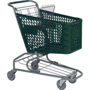 Traditional Plastic Shopping Cart, Dark Green, 72 liters