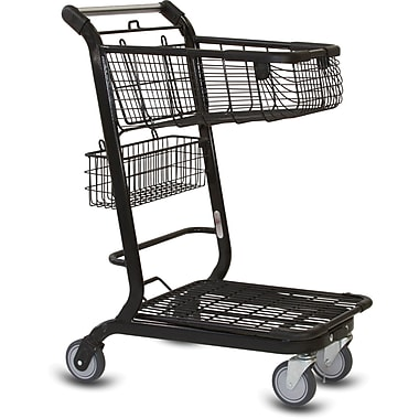 EXpress3500 Convenience Shopping Cart, Metallic Gray