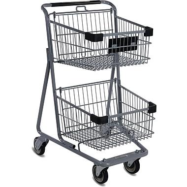 EXpress4545 Convenience Shopping Cart, Light Gray