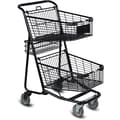 EXpress5050 Convenience Shopping Cart, Metallic Gray
