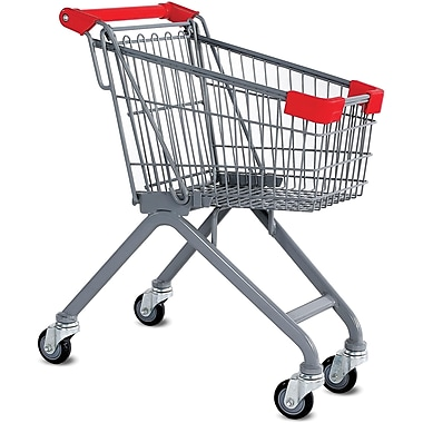 Kiddy Wire Shopping Cart, Metallic Gray