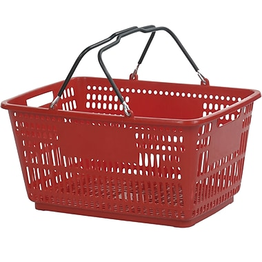 Wire Handle Hand Basket, 30 Liter, Red, 20 Baskets/Pack
