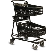 TT-100 Convenience Shopping Cart, Black Frame w/ Baskets