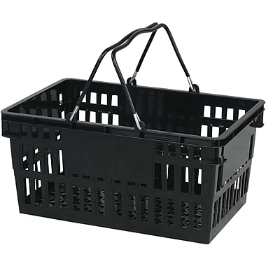 Wire Handle Hand Basket, 26 Liter, Black, 12 Baskets/Pack