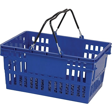 Wire Handle Hand Basket, 26 Liter, Dark Blue, 12/Pack