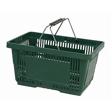 Wire Handle Hand Basket, Dark Green, 28 Liter, 12/Pack