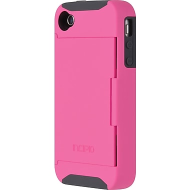 Stowaway Credit Card Case for iPhone 4/4s, Pink / Gray