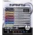 The Write Dudes Infinity Metallic Permanent Markers,  Fine Point, Assorted Colors, 8/Pack