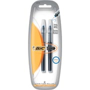 BIC Extra Fine Rollerball Pens For BIC® Triumph Rollerball Pens, 2/Pack, Blue