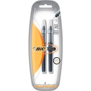 BIC Extra Fine Rollerball Pens For BIC® Triumph Rollerball Pens, 2/Pack, Black