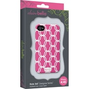 Elibrium 365 Case for iPhone4/4S, Hot Pink Lattice