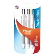 Paper Mate® InkJoy Quatro Retractable Ballpoint Pens, Medium Point, Fashion and Business Colored Ink, 3/pk (1832419)