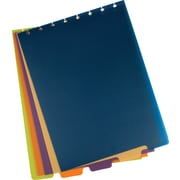 "Staples® Arc System Top Bound Tab Dividers, 9"" x 11"", Assorted Colors"