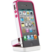 Speck CandyShell Flip Case for iPhone 4S/S, White Raspberry