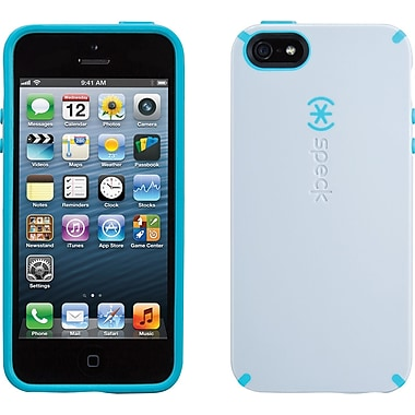 Speck CandyShell for iPhone 5, Pebble Grey/Peacock Blue