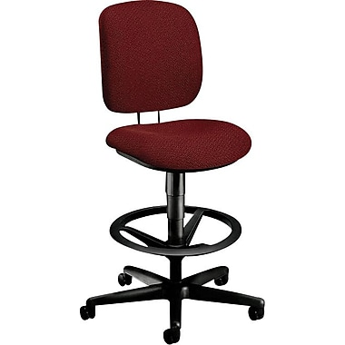 HON Comfortask® Fabric Task/Swivel Stool, Burgundy