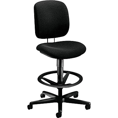 HON Comfortask® Fabric Task/Swivel Stool, Black