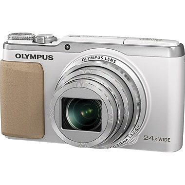 Olympus SH-50 iHS 16MP Digital Camera, White