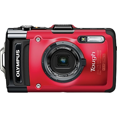 Olympus Tough TG-2 iHS 12MP Digital Camera, Red