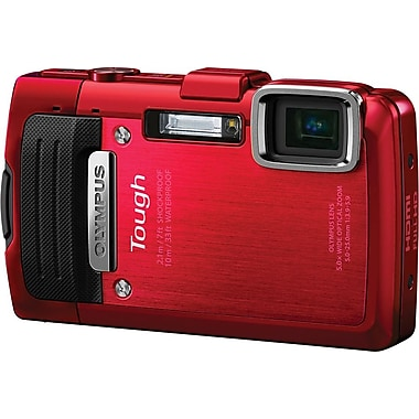 Olympus Tough TG-830 iHS 16MP Digital Camera, Red