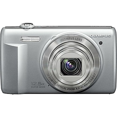 Olympus VR-370 16MP 12.5X Wide Zoom Digital Camera, Silver