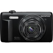 Olympus VR-370 16MP 12.5X Wide Zoom Digital Camera, Black