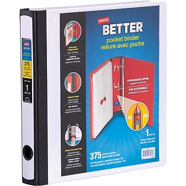 Staples® Better Pocket Binder, 1