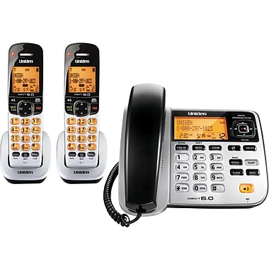 Uniden D1788-2T DECT 6.0 2 Handset Corded/Cordless telephone with Digital Answering System/Caller ID/Call Waiting