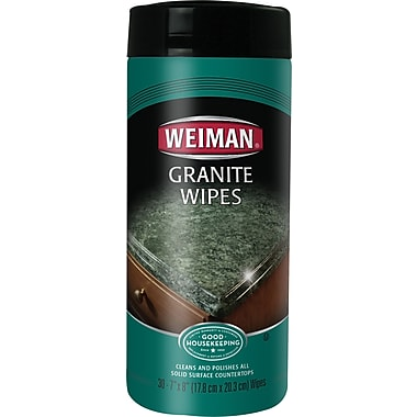Weiman Granite Wipes 30 Wipes/Tub