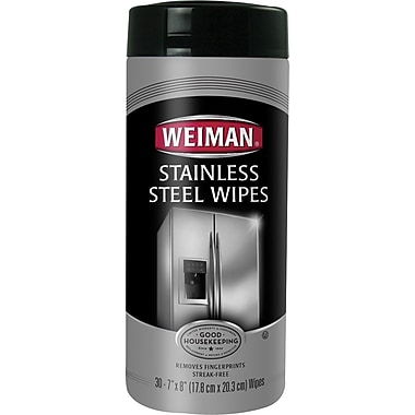 Weiman® Stainless Steel Wipes, 30 Wipes/Tub