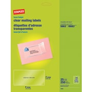 "Staples® Clear Inkjet/Laser Shipping Labels, 2"" X 4"", 250/Box"