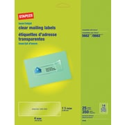 "Staples 1 1/3"" x 4"" Inkjet/Laser Address Labels, Clear, 350/Box (18106/SICJ120)"