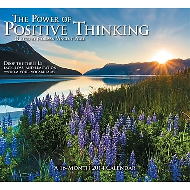 2014 The Power of Positive Thinking Wall Calendar, 12x11