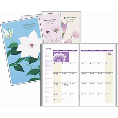 2014 AT-A-GLANCE®Floral Two-Year Pocket Planner, 3 3/4in. x 6in.