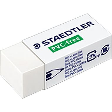 Staedtler® Latex- and PVC- Free Erasers, White, 2/Pack