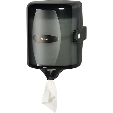NOIR Centre Pull Towel Dispenser, Smoke/Black