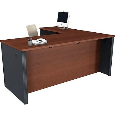 Bestar Prestige+ L-shaped Workstation Kit, Bordeaux & Graphite
