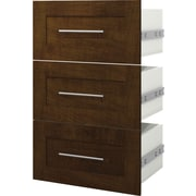 """Pur by Bestar 3 Drawer Kit For 25"""" Storage Unit, Chocolate"""