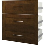 """Pur by Bestar 3 Drawer Kit For 36"""" Storage Unit, Chocolate"""