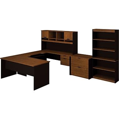 Bestar Innova U-shape Collection Kit, Tuscany Brown & Black