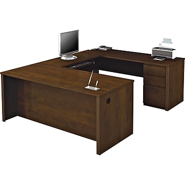 Bestar Prestige+ U-shaped Workstation Kit, Chocolate