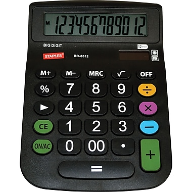 Staples® 12-Digit Big-Number Desktop Calculator