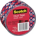 Scotch® Brand Duct Tape, Fourth of July, 1.88in. x 10 Yards